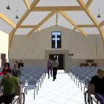 Vue intérieure Salle de culte